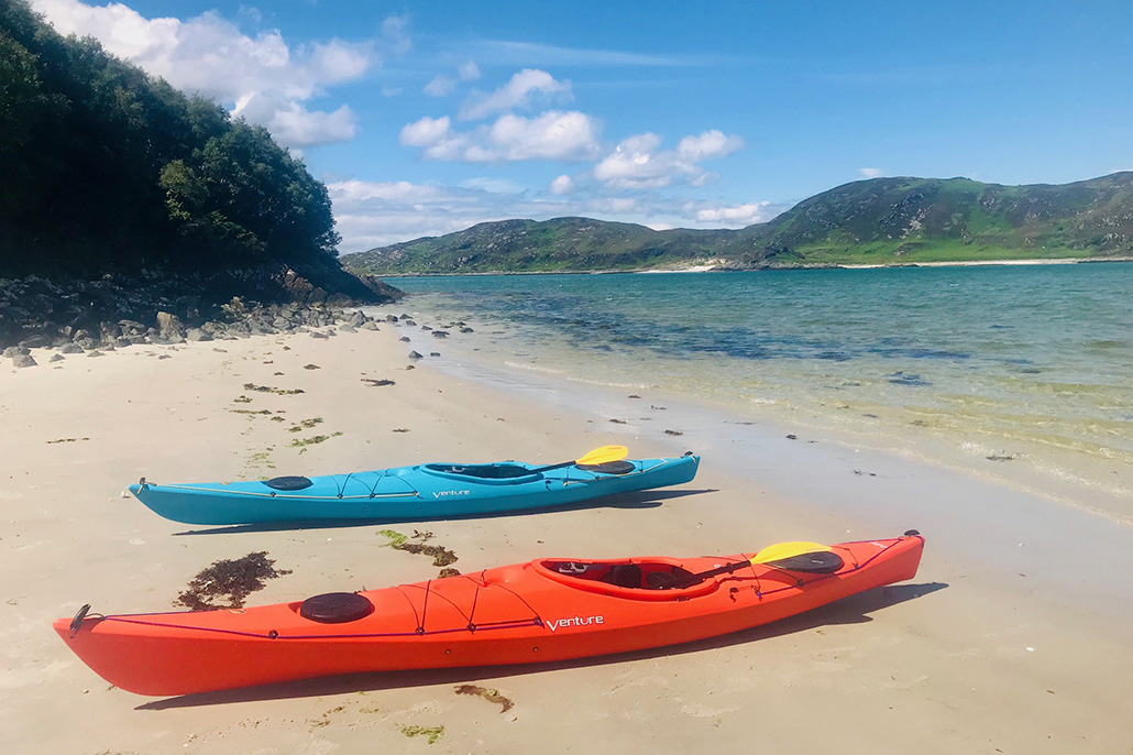 Sea Kayaking in Arisaig, Scotland.